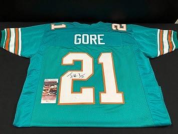 Frank Gore Miami Dolphins Autographed Signed Custom Throwback Jersey JSA  COA Wpp188536 Hof - Size XL 989de5c20