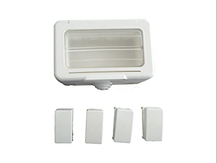 c&s electric 4 Module Waterproof Gang Box with Four 6A Switch. Use in roof top Lighting, Garden Lighting etc. to Protect Shock.