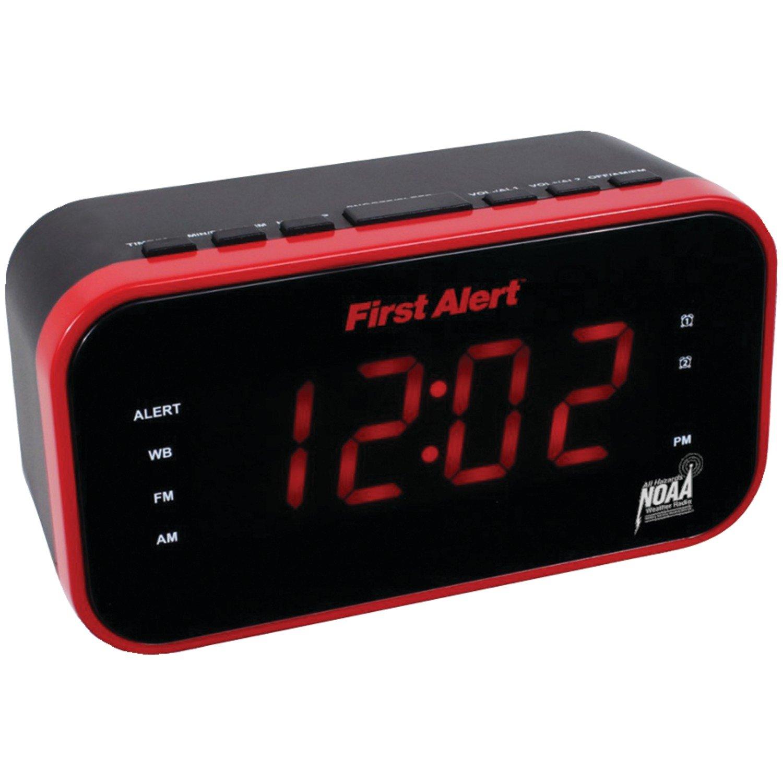 Amazon First Alert Weather Radioredblack Sfa150 Home Audio