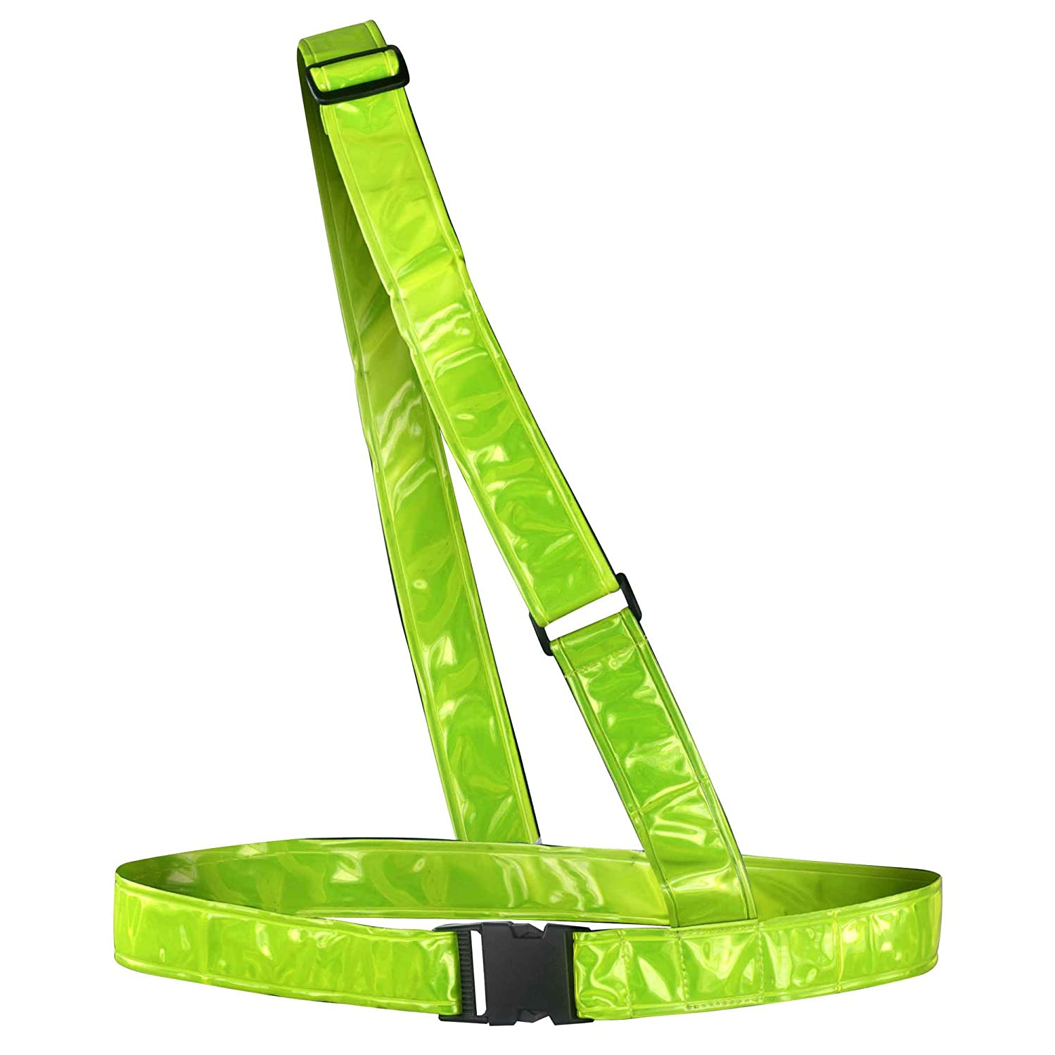 time to run High Visibility Reflective Sam Brown Running/Cycling/Walking Belt 30005