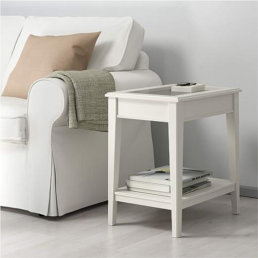 IKEA.. 401.730.65 Liatorp Mesa Auxiliar, Color Blanco, Cristal ...