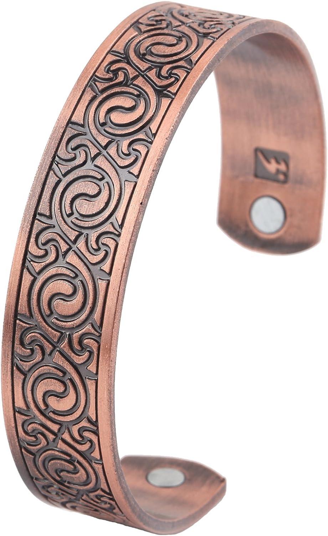 Mens Bio Magnetic Celtic Copper Torque Bangle-Bracelet Arthritis-Pain Relief
