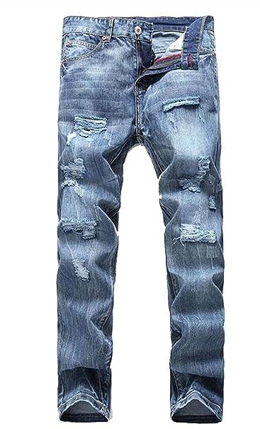 Battercake Pantalones De Algodón para Hombres Vaquero ...