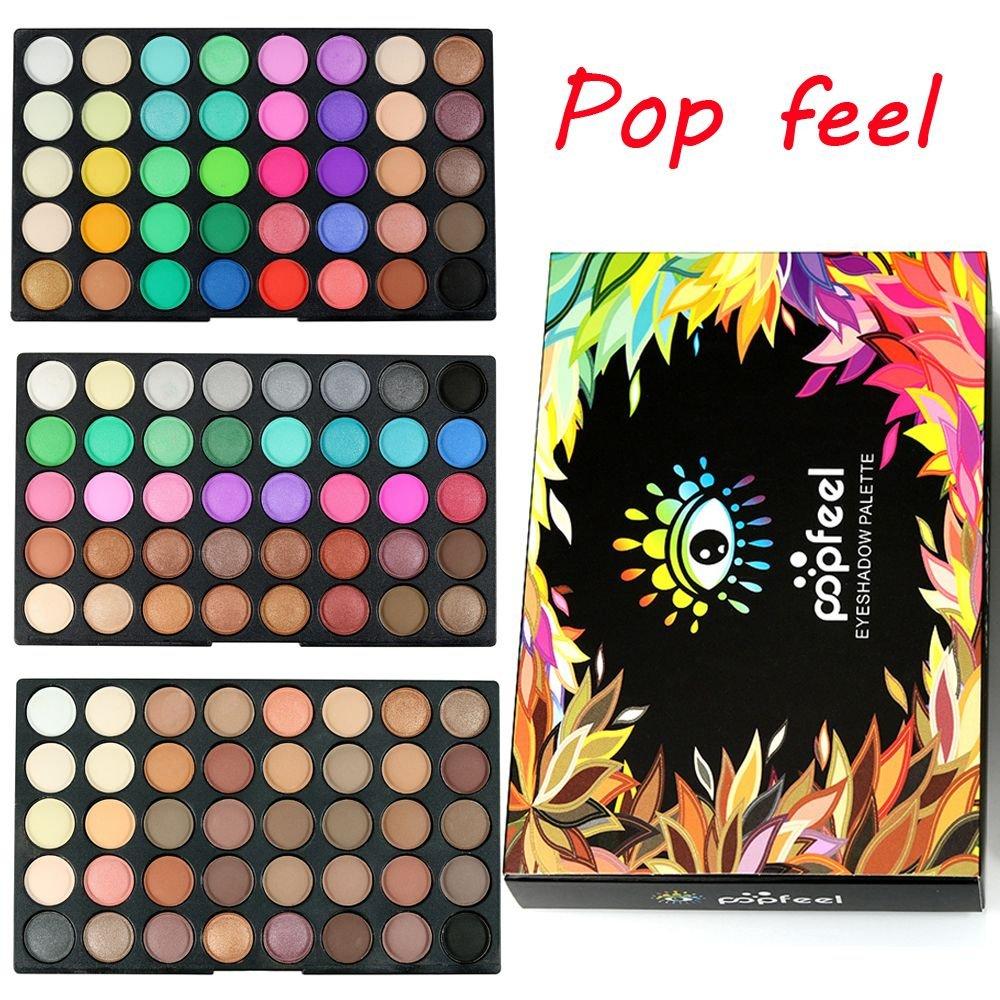 Smoothph Stylish Makeup Tool Kit Women Pro Cosmetic Eye Shadow Palette Face Powder Matte Shimmer