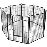 RayGar® Heavy Duty 8 Panels Enclosure Dog Pet Cat Pen Cage Puppy Play Fence Run Medium 80 x 80 cm - New
