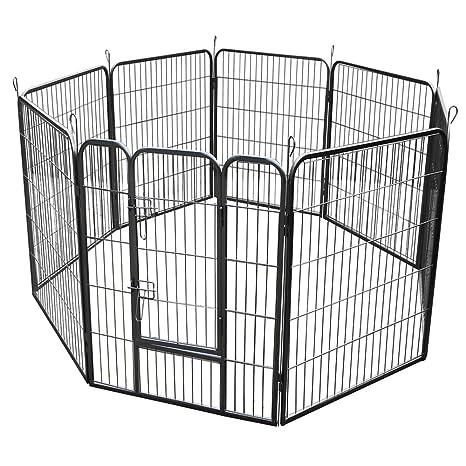 RayGar Heavy Duty 8 paneles Enclosure perro Pet Cat Pen jaula ...