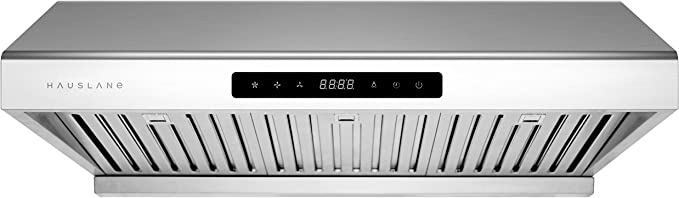 Hauslane Chef Series 30 Ps10 Under Cabinet Range Hood Pro Performance Stainless Steel Electric Stove Ventilator 3 Speed Exhaust Fan Bright Led Lights Delay Auto Shut Off Amazon Ca Home Kitchen