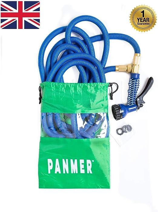 Manguera de Agua Extensible para Jardín con Pistola de Pulverización antifugas con Manguera de Latón Mejorado Todos los Tamaños y Colores, Blue 75ft: Amazon.es: Jardín