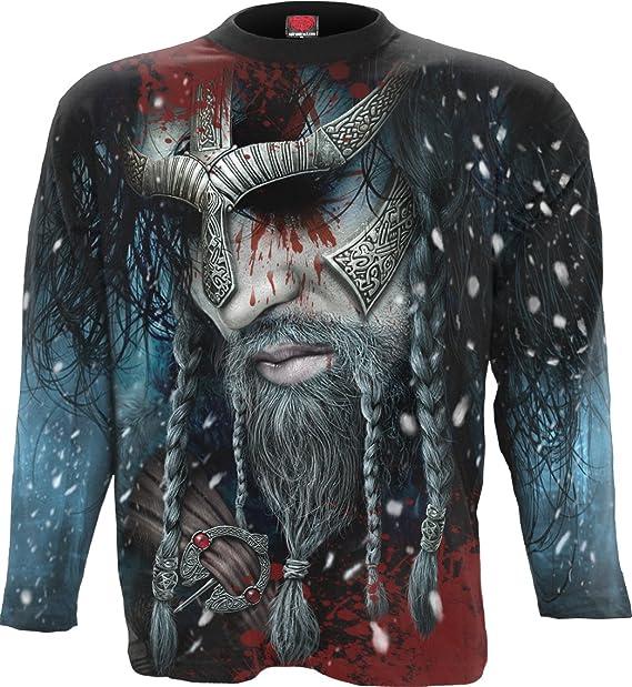 Viking Warrior Spiral Mens T-Shirt Black