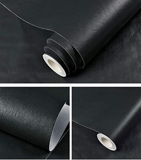 GLOW4U - Papel Pintado de Piel sintética para estantes, armarios ...