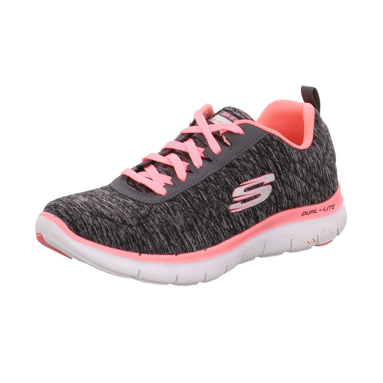 Skechers Women's, Flex Appeal 2.0 Running Shoe Black Coral 6 M
