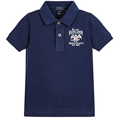 b93c48459fa Amazon.com  Ralph Lauren Boys Vintage Flag Patch Short Sleeve Polo ...