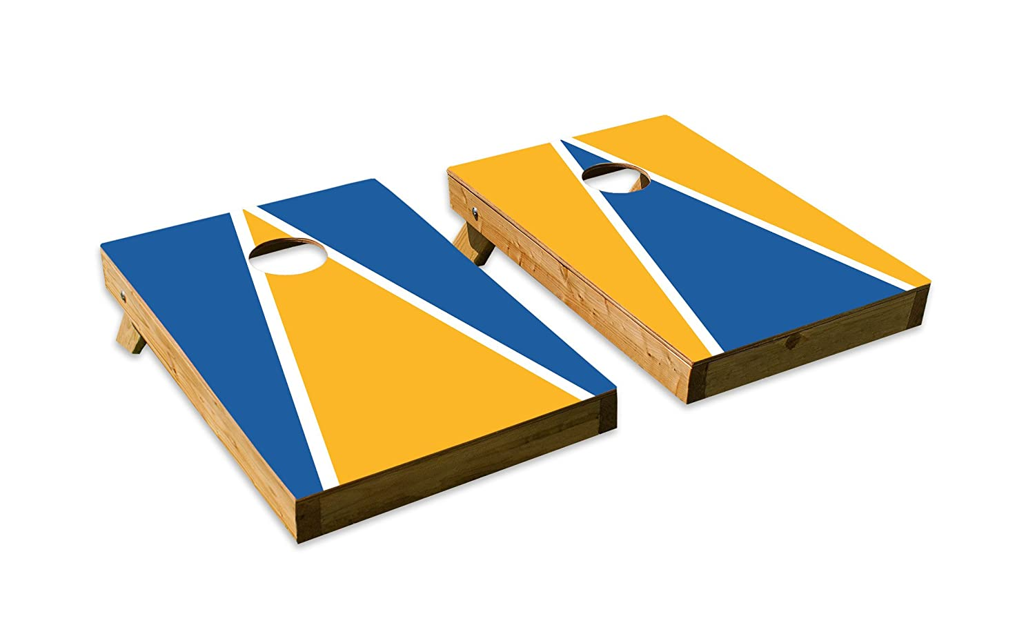 UCLA BruinsデザインCornhole/Bean Bag Tossボードセット – Made in USA with品質木製 – 2 ' x3 'テールゲートサイズ – Includes 8 corn-filled Beanバッグ  Tailgate