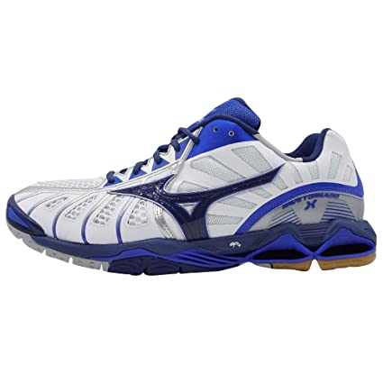 Mizuno Chaussures Wave Tornado X Blanc/Bleu/Bleu éclatant