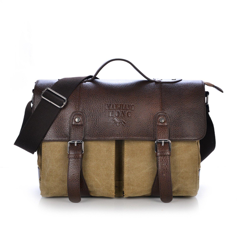 Outreo Bolsos Bandolera para Hombre Bolso Vintage Messenger Bag Bolsas de Viaje Tela para Laptop Colegio Bolso Mujer Escolares Sport Casual
