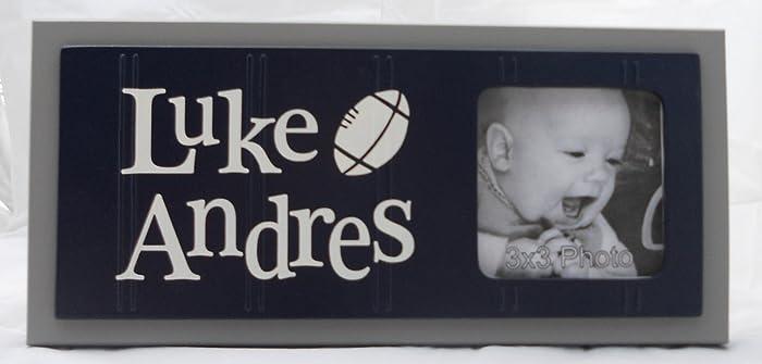 Amazon.com: Football Nursery Frame, Personalized Baby Nursery Name ...