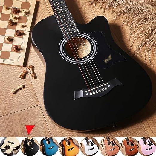 Guitarra Acústica Clasica Madera Maciza Principiante Corte ...