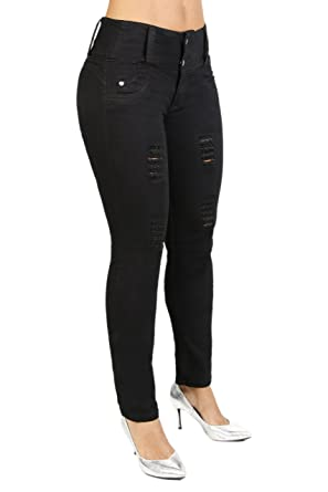 b54e72c27a Curvify All Black Skinny Jeans | Ripped Booty Jeans | Pantalones Levanta  cola(764-