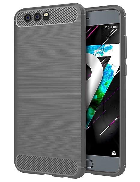 TTVie Huawei Honor 9 Funda, Carcasa Caso Cubierta de Protección de TPU Silicona con Textura de Fibra de Carbono para Huawei Honor 9 5.15