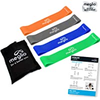 Latex Free Resistance Bands Loops - Premium Fitness Exercise Bands for Fitness Workouts Rehabilitation Yoga Pilates and Strength Training - Includes Exercise Guides