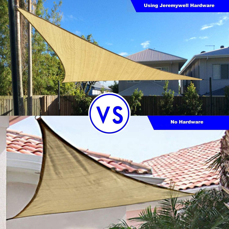 for Triangle Sun Shade Sails Super Heavy Duty 6 Inches Jeremywell Sun Shade Sail Hardware Kit