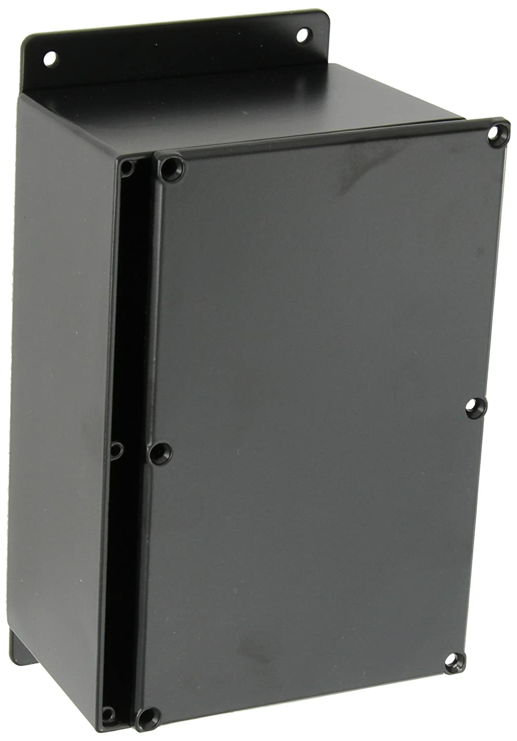 7-3//8 Length x 4-11//16 Width x 3-13//64 Height Black Powdercoat Finish 7-3//8 Length x 4-11//16 Width x 3-13//64 Height BUD Industries CU-4347-B Die Cast Aluminum Econobox with Mounting Bracket