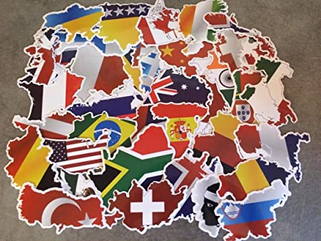 Set of country stickers world map travel europe shape set of country stickers world map travel europe shape international flags gumiabroncs Images