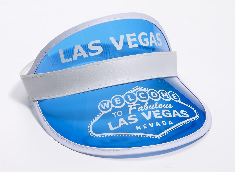 Amazon.com  Blue Las Vegas Poker Dealer Bingo Plastic Clear Visor Hat Fear    Loathing  Clothing f4cfe85740c