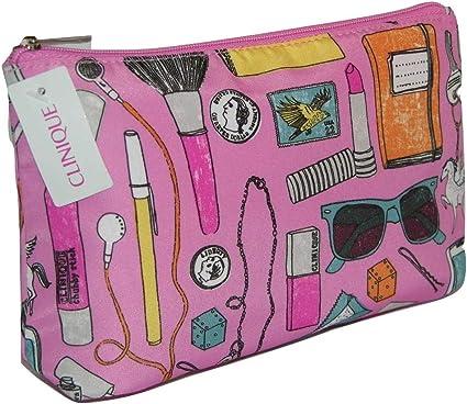 Clinique productos diseño y rosa maquillaje bolsa de cosméticos: Amazon.es: Belleza