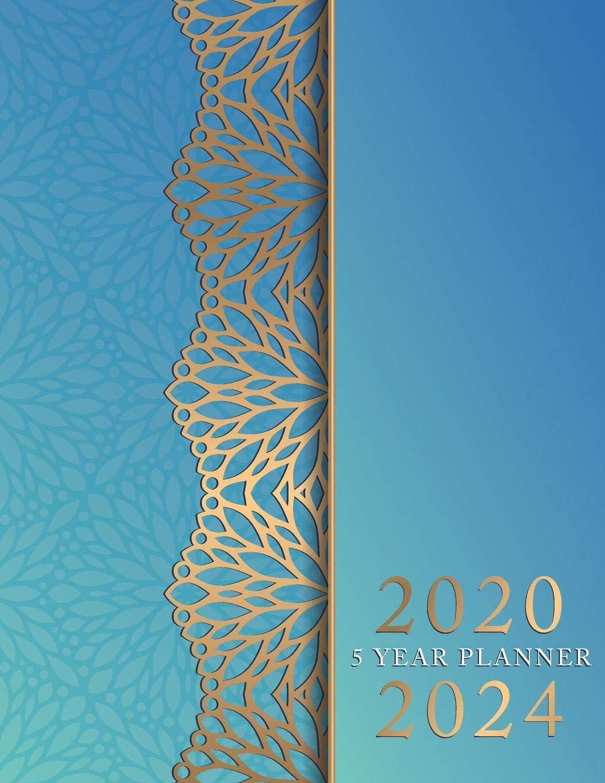 Amazon.com: 5 Year Planner 2020-2024: Blue Mandala Cover | 5 ...