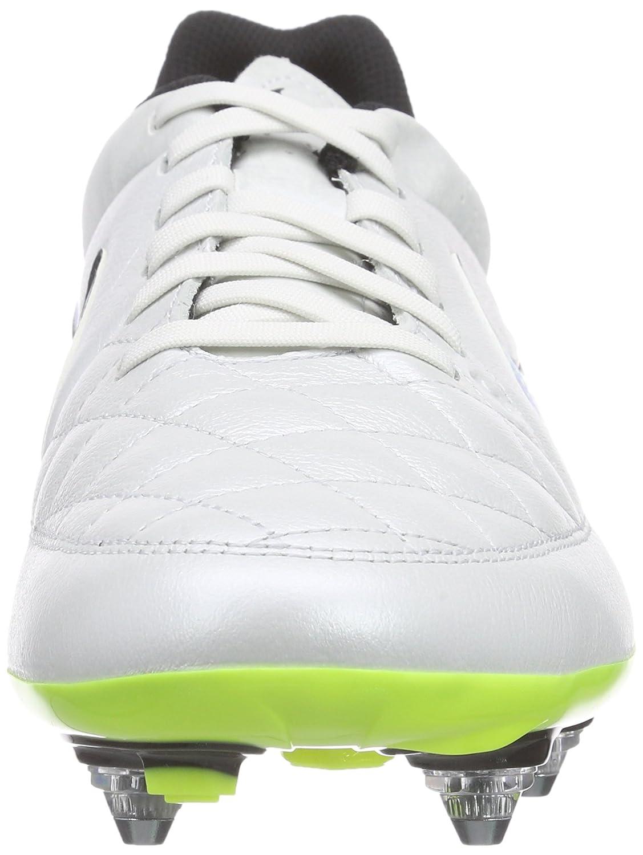 Nike Tiempo Genio Leather SG, Chaussures de Football homme - Blanc - Weiß ( White/volt-soar-black 174), 47: Amazon.fr: Chaussures et Sacs