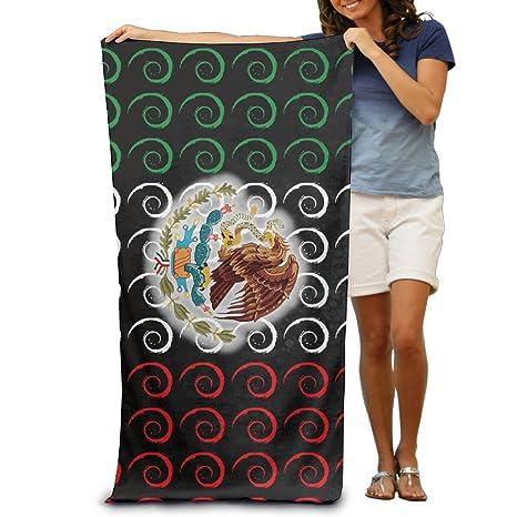 Wave bandera de México familia toallas de playa para adultos