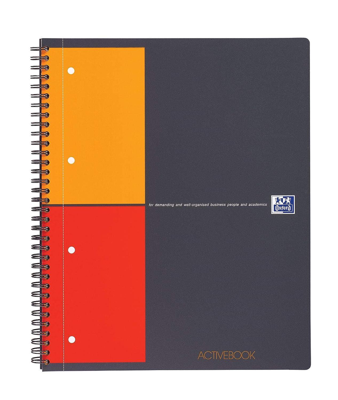 Oxford - Blocco appunti International Notepad, A4+, a righe 6 mm / 4 fori, 80 fogli, con punti metallici Hamelin Brands 100102359