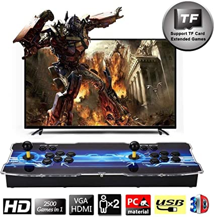 SeeKool Newest 3D Pandora X Arcade Game Console, 1920x1080 Full HD 4 Players Max Arcade Machine with 2500 Games, Support Extended TF Card& USB Disk to ...
