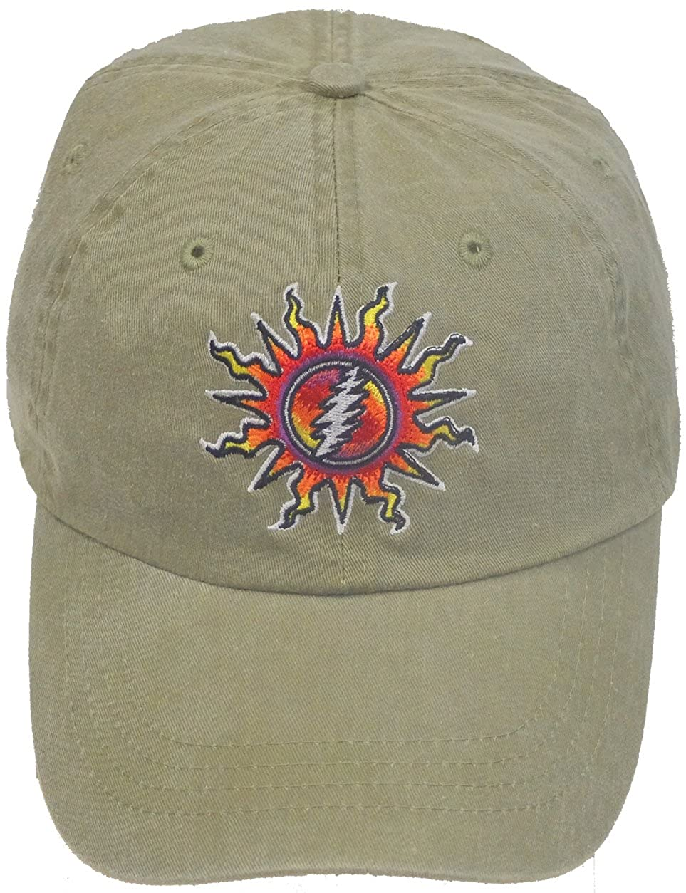 Grateful Dead Embroidered Sunshine Daydream Tan Cap by Dye The Sky DTS-SSDDTAN-HAT