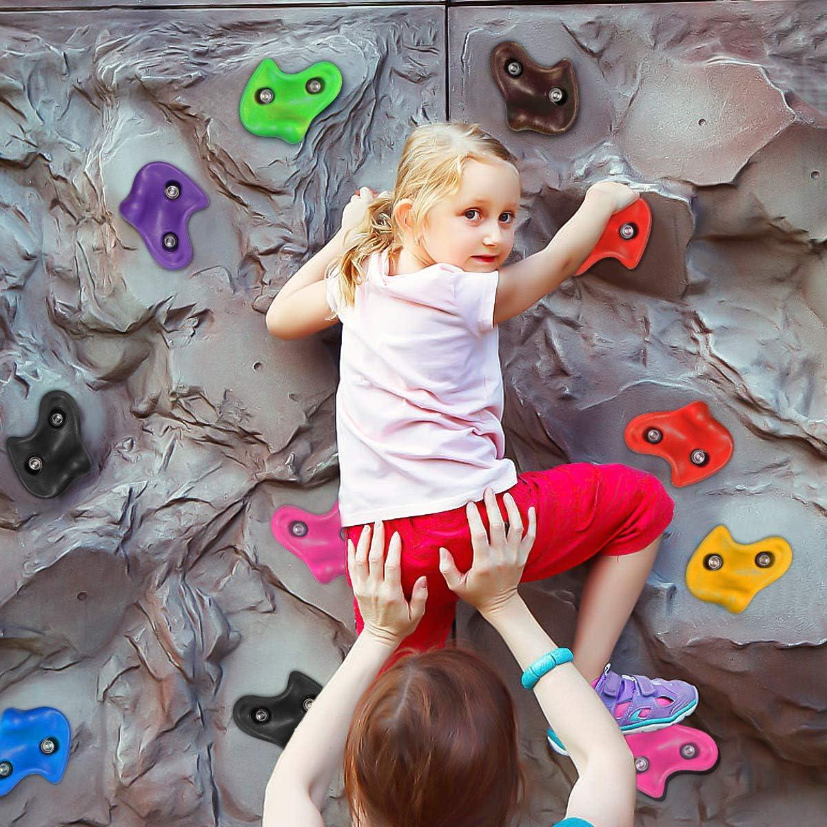 NOBRAND Escalada Set para Niños, Piedras de Escalada para Paredes, Presas de Escalada de Colores, Torres de Juegos para Kids con Accesorios de ...