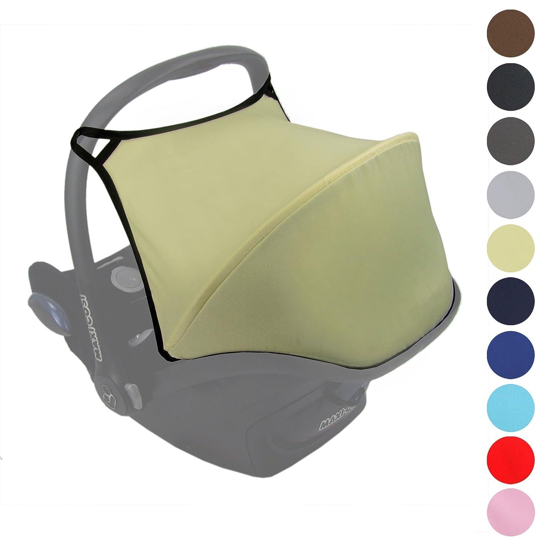 Babys-Dreams Sonnenverdeck UV50+ für Maxi-Cosi Cabriofix ** 6 FARBEN ** Sonnendach Babyschale Autositz Maxi Cosi (Beige) BambiniWelt