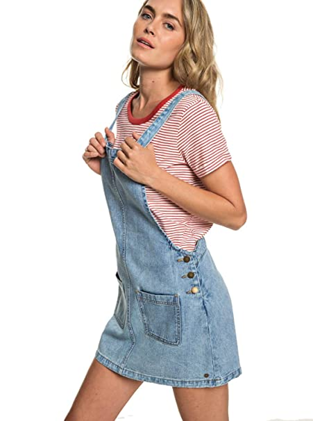 ed6d9c324373 Roxy Love To Travel - Vestido Vaquero de Peto para Mujer ERJWD03319:  Amazon.es: Ropa y accesorios