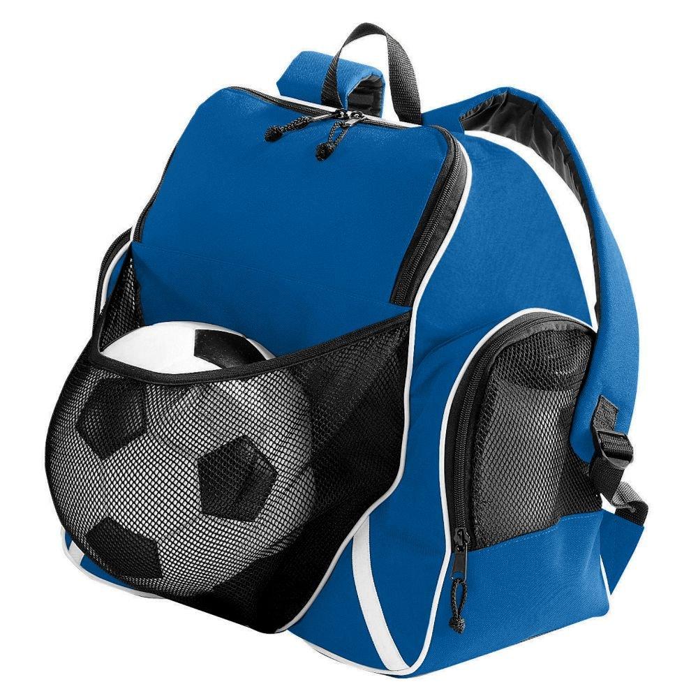 Augusta Sportswear TRI-COLOR BALL BACKPACK OS Royal/Black/White