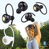 SAVFY® Mini Auricolare Ergonomica Wireless Sistema Bluetooth 3.0 senza Fili, Cuffia portatile Wireless In Ear Earphone per iPhone, ipad, Samsung, Tablet PC, ecc - Nero