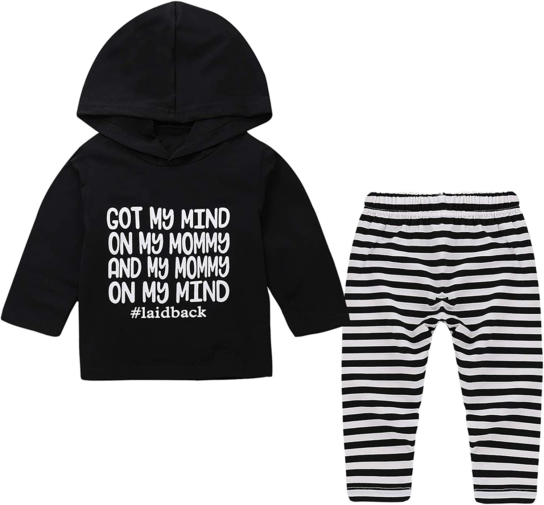Yilaku Set di Vestiti mimetici Neonato Felpe con Cappuccio per Neonati Top Set Completo di Pantaloni con Cappuccio per Bambini