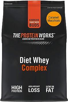 Diet Whey Complex para perder peso | Sabor caramelo machiato| 2 kg de Batido de proteína whey dietético