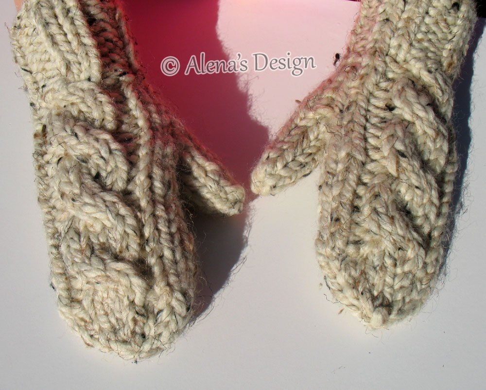 c37979eb4 Amazon.com: Children's Women's Men's Mittens Hand Knit Mittens Child Adult  Boys Girls Ladies Teens Gloves Cream Gray Pink Red WinterMade in USA Free  ...