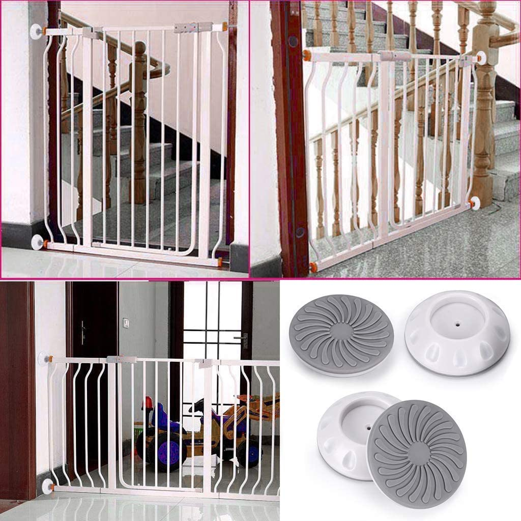 Noblik 4 Packs of Pet Gates Wall Guard Safe Wall Bumpers Guard Wall Protector Cups Pads for Pressure Gate Door Stairs