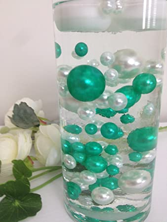Amazon 80 Shamrock Green White Pearls Vase Filler Pearls For