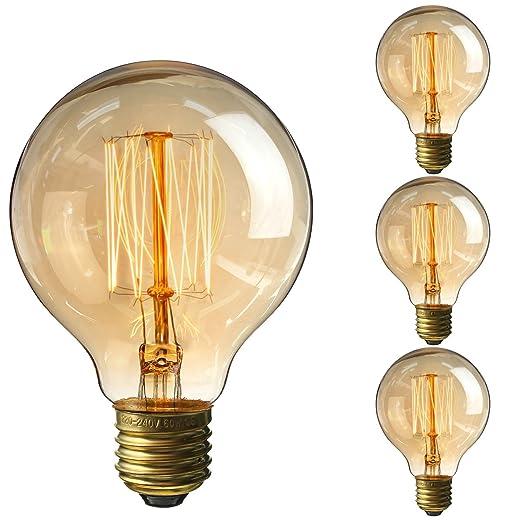 30 opinioni per Elfeland Edison Lampadina 40W, Vintage Retro Style Lampadine a incandescenza,