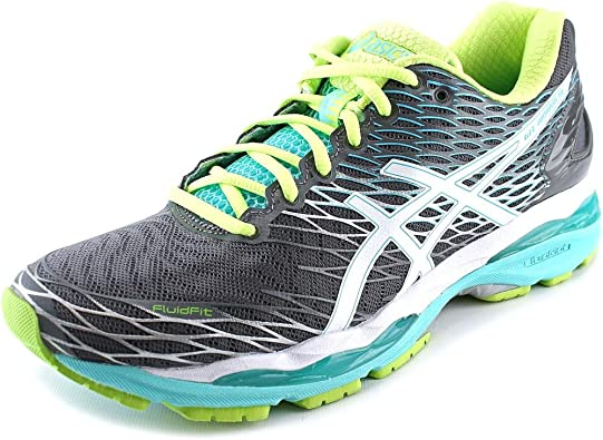 ASICS Gel-Nimbus 18 Zapatillas de correr para mujer, Multi (Titano-blanco-turquesa.), 42 EU: Amazon.es: Zapatos y complementos