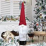YunZyun Christmas Champagne Bottle Cover Dress Up Decoration - Christmas Faceless Doll Hanging Leg Wine Bottle Cover…