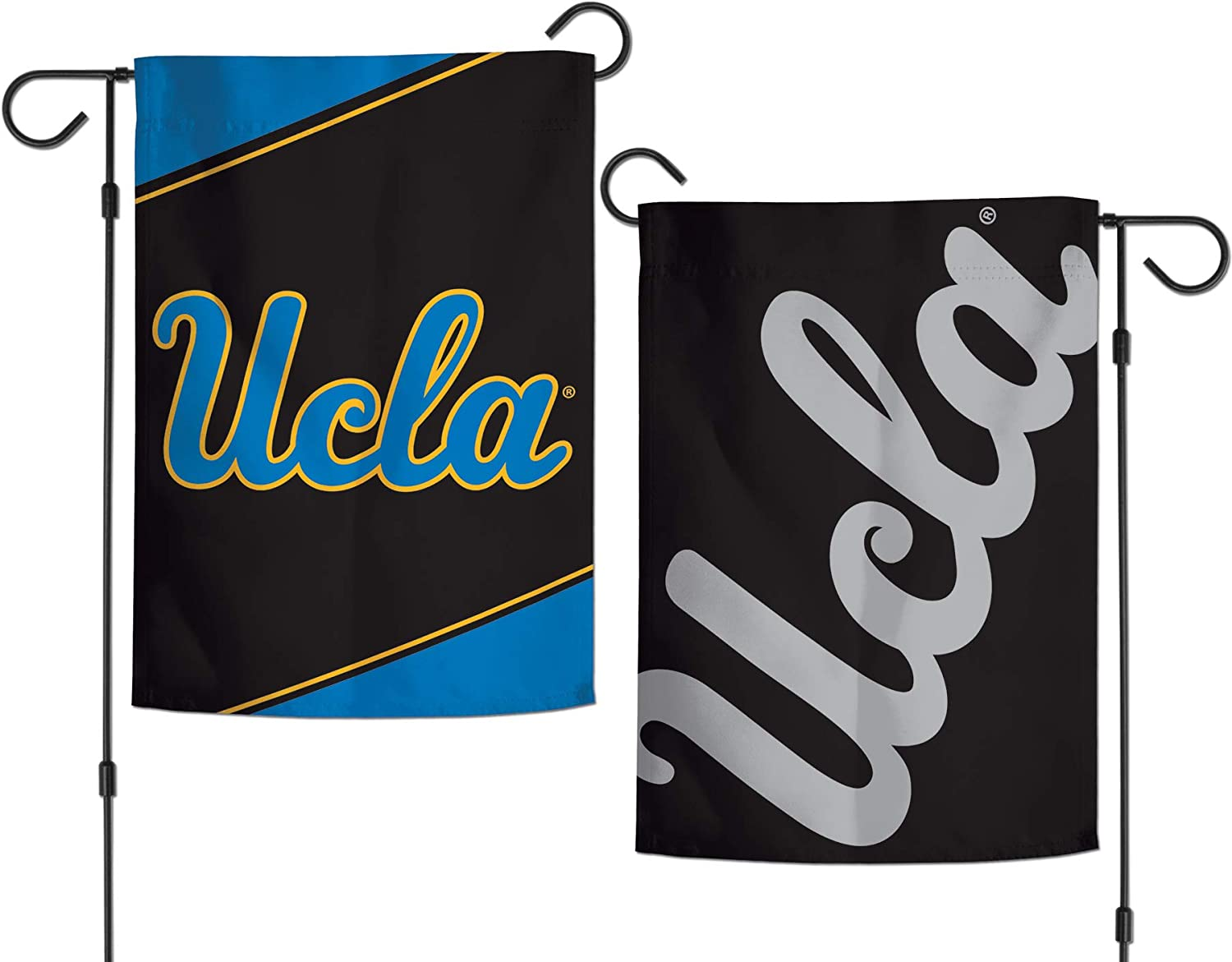 2 Sided 12.5x18 inches Action Stripes and Charcoal Edition WinCraft Yale Bulldogs Garden Flag