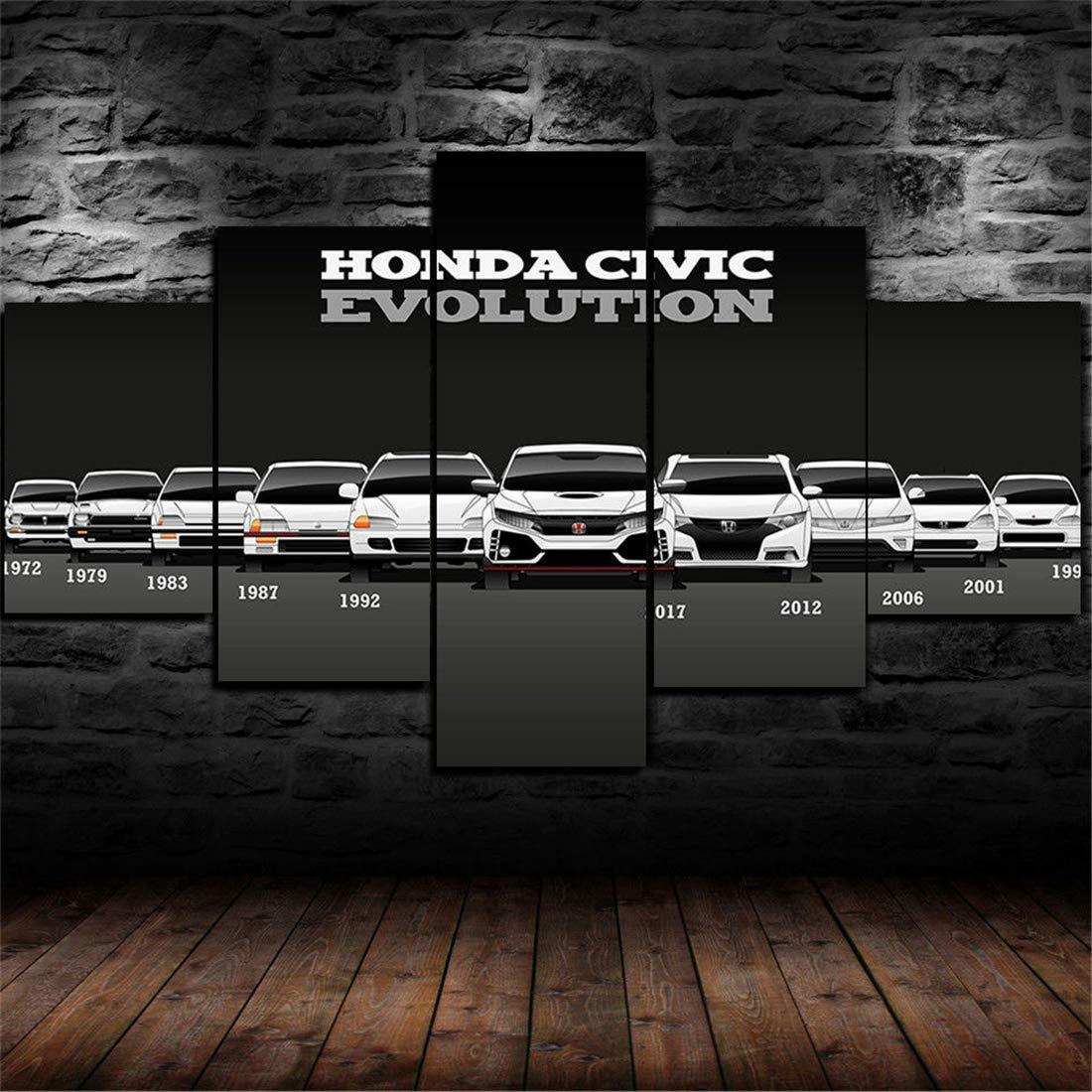 Amazon.com: JESC Wall Art for Men Bedroom Honda Civic ...